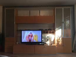 hülsta wohnzimmer wand ahorn u weis