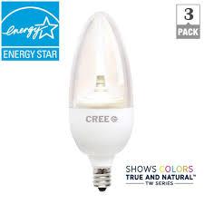 cree tw series 40w equivalent soft white b13 medium candelabra