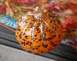 Glass Blown Pumpkins Seattle by Red And Gold Blown Glass Pumpkin 4 Wide Transparent