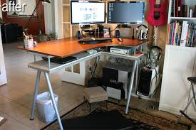 Ikea Corner Desk Hack by Lovable Ikea Stand Up Desk Galant Stand Up Desk And Rationell