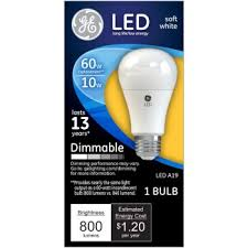 buy the general electric 67511 dimmable led light bulb 10 watt