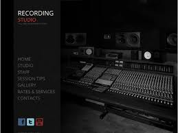 Recording Studio Website Template With A Background Gallery