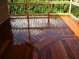 Kon Tiki Wood Deck Tiles by Floor Outdoor Wood Deck Tiles With Railing And Plants Also Wood