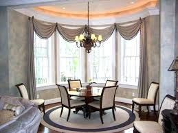 Splendid Dining Room Drapes Ideas Formal Drapery Window Treatment For Curtains Bay Windows Kitchen Coverings Sho