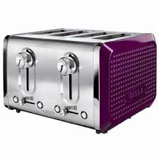 Bella 13791 Dots 4 Slice Toaster Purple