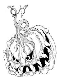 Halloween Scary Coloring Pages Arts
