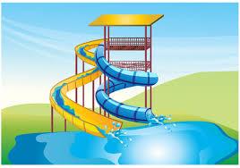 Water Slide Free Vector Art