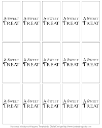 Candy Bar Wrapper Template Word Mini For Hershey Optional Pictures