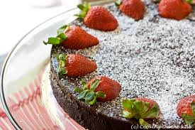 Post image for Flourless Chocolate Cake with Strawberries