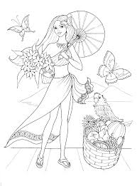 Full Size Of Coloring Pagespretty Girl Printables And Umbrella Page For Kids Spring