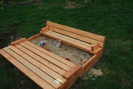 ana white sand box with built in seats diy projects