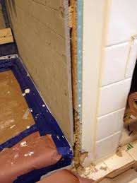 transition hardiboard to drywall outside corner of shower alcove