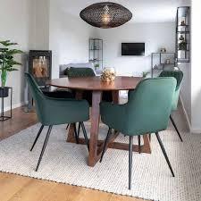 runder designtisch 4 stühle annescu 5 teilig