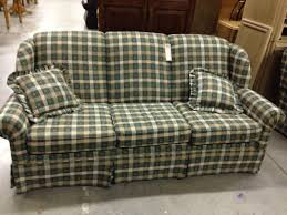 Clayton Marcus Sofa Bed by Green Plaid Sofa And Loveseat Allegheny Furniture Consignment