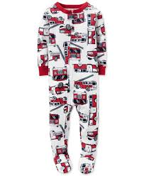 Carter's Baby Boys' 1-Pc. Firetruck-Print Footed Pajamas | Kids ...