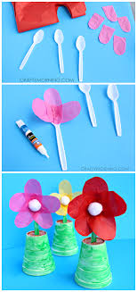 Make Some Spoon Flowers For A Mothers Day Gift Its Cute And Easy Kids Craft