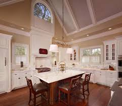 cathedral ceiling ideas vs vaulted drop lights for kitchen open