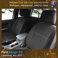 FULL-BACK Front Seat Covers + Map Pockets (FR11FB) - Dingo Trails