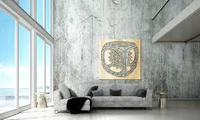 wanddekoration aus metall im skandinavischen stil würfel