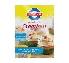 SNOWFLAKE Playtime Cupcake Kit Vanilla 10 X 496g