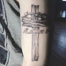 Take Up The Cross And Follow Me Bible Tattoos