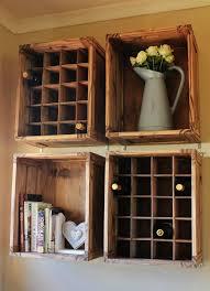 caisse a vin en bois brico diy meuble rangement mural caisse vin bois décoration