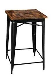 details zu kleiner bartisch holz eisen schwarz vintage esszimmer wohnzimmer bar