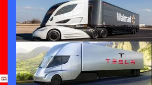 Tesla Semi Truck Vs Walmart Semi Truck - YouTube