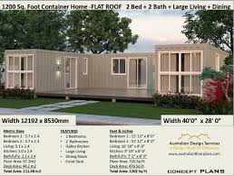 100 Shipping Container Cabin Plans Best Selling 2 Bedroom House Plans House Home 2 Bedroom Home FLAT ROOF