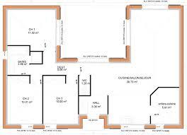 maison plain pied 3 chambres en u