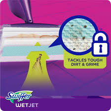 swiffer wetjet mop refills with the power of mr clean magic