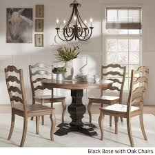 Eleanor Black Round Solid Wood Top 5-Piece Dining Set - French ... Antique Set Of 12 French Louis Xv Style Oak Ladder Back Kitchen Six 1940s Ding Chairs Room Chair Metal Oak Ladder Back Chairs Avaceroclub Fniture Classics Solid Wood Wayfair 10 Rush Seat White Painted Country Shabby Chic Cottage In Theodore Alexander Essential Ta Farmstead A 8 Nc152 Bernhardt Woven