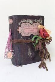 Vintage Style Wedding Guest Book And Scrapbook Rustic Purple Fairytale Photo Album