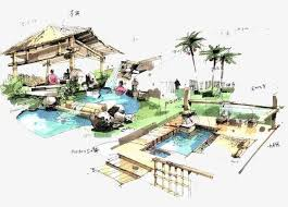 Villa Illustration Swimming Pool People PNG Image And Clipart