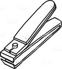 nail cutter clipart black and white