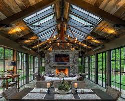 Astonishing Rustic Sunrooms Fresh On Sunroom Furniture Sets Decor Ideas Lighting Decoration