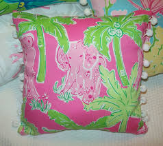 Lilly Pulitzer Bedding Dorm by Bedroom Pillow With Elephant Motif By Lilly Pulitzer Bedding