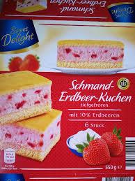 sweet delight schmand erdbeer kuchen kalorien kuchen
