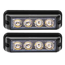 100 Truck Strobe Lights Rupse 4 LED 1224V Super Bright High Power Car