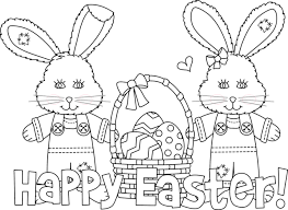 Happy Easter Bunny Coloring Templates Printables For Kids