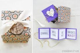 DIY Will You Be My Bridesmaid Gift Box Free Printable