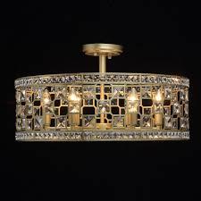 deckenleuchte gold ø60cm kristalle wohnzimmer sarlana