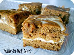 Pumpkin Swirl Cheesecake Bars by Cream Cheese U0026 Pumpkin Roll Bars Recipe U2013 Six Sisters U0027 Stuff