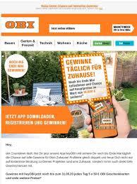 obi mehr baumarkt email newsletters shop sales