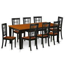 QUNI9-BCH Black/Cherry Rubberwood Dining Table With Eight Solid ... Shop Valencia Black Cherry Ding Chairs Set Of 2 Free Shipping Chair Upholstered Table Ding Set Sets Living Dlu820bchrta2 Arrowback Antique And Luxury Mattress Fniture Dover Round Table Md Burlington Blackcherry With Brookline With Indoor Teak Intertional Concepts Extendable Butterfly Leaf Amazoncom East West Nicblkw Wood Addison Room Collection From Coaster X Back C46 Homelegance Blossomwood 0454