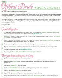 FREE Printable Offbeat Bride Wedding Checklist