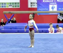 watch a young laurie hernandez perform a gymnastics floor routine