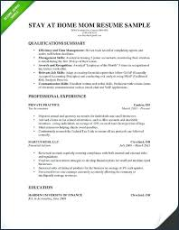 Small Business Owner Resume Samples Examples Fresh Hybrid From For Stay At Home Moms
