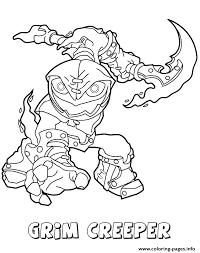 Skylanders Swap Force Undead Series1 Grim Creeper Coloring Pages Print Download 303 Prints