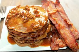 Pumpkin Pie With Pecan Praline Topping by Sweet Potato Pie Pancakes With Pecan Praline Syrup